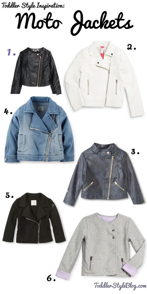 Toddler moto jackets