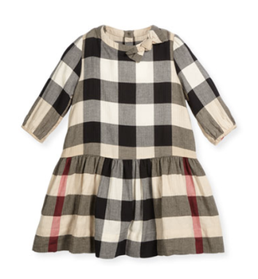 Burberry Haidee Check A-Line Dress