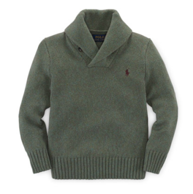 Ralph Lauren Childrenswear Shawl-Collar Pullover Sweater