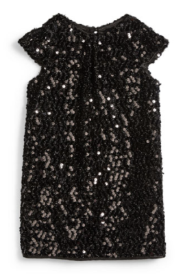 Milly Minis Sequin Cap-Sleeve Dress