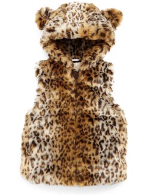 Kate Spade Leopard Faux Fur Vest