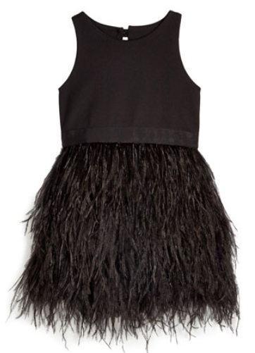 Milly Minis Blaire Ostrich Feather Dress